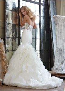 dreamy trapless sweetheart tulle wedding dress with front